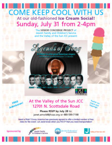 Seniors: Ice Cream Social @ The Valley of the Sun Jewish Community Center  | Scottsdale | Arizona | United States